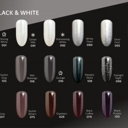 BLACK&WHITE  Semilac UV&LED Gel Polish – SELECT COLOUR