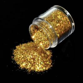 HOLOGRAPHIC NAIL GLITTER – ROYAL GOLD