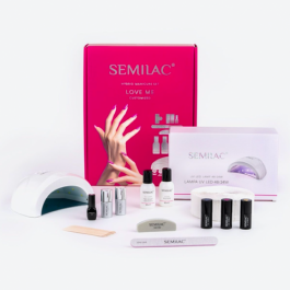 """SEMILAC STARTER SET """"LOVE ME""""  with 48w Lamp- Customized"""