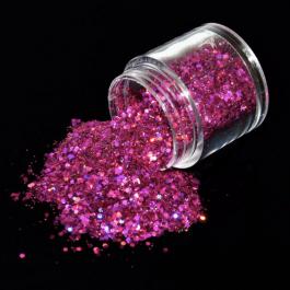 HOLOGRAPHIC NAIL GLITTER – PINK FUSCIA