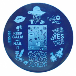 """STAMPING PLATE """"NAIL IT"""" – STZ 105"""