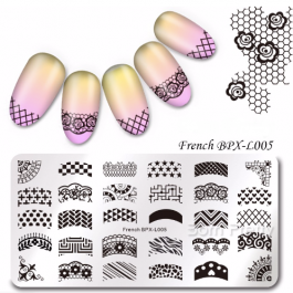 "STAMPING PLATE BPX-L005 ""FRENCH DESIGNS"""