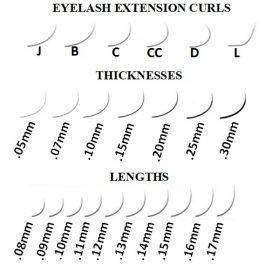 MINK lashes MIX tray 8-15mm  D/C/L -curl