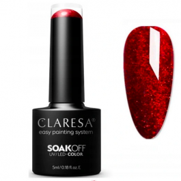 Claresa RED  UV/LED gel polish – select colour