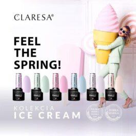 Claresa ICE CREAM  UV/LED gel polish – select colour NEW